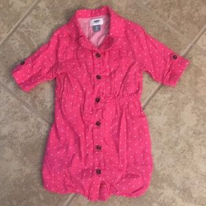 Old Navy pink cotton flannel dress
